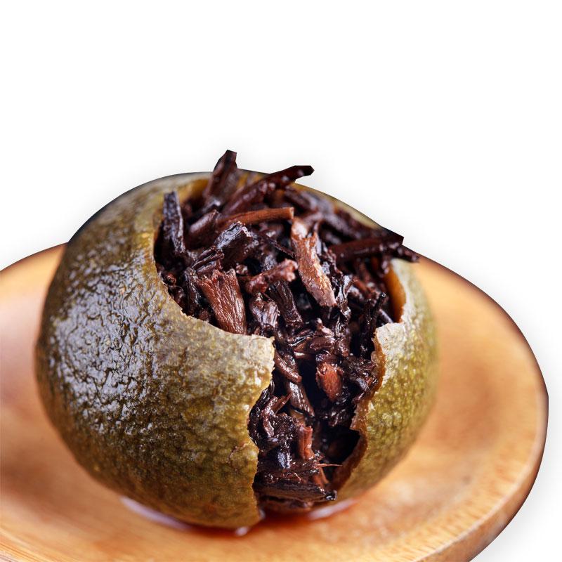 浓香型小青柑皮普洱茶