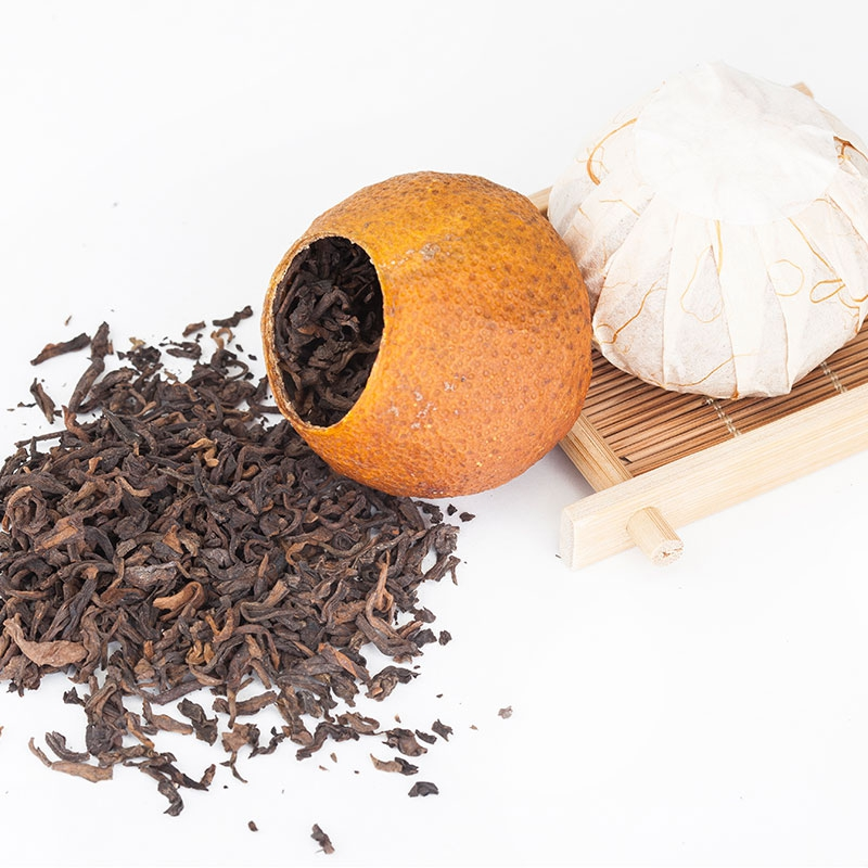 浓香型大红柑普洱茶